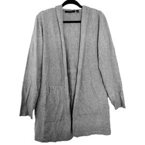 Cyrus Grey Open Front Hooded Cardigan w/Pockets